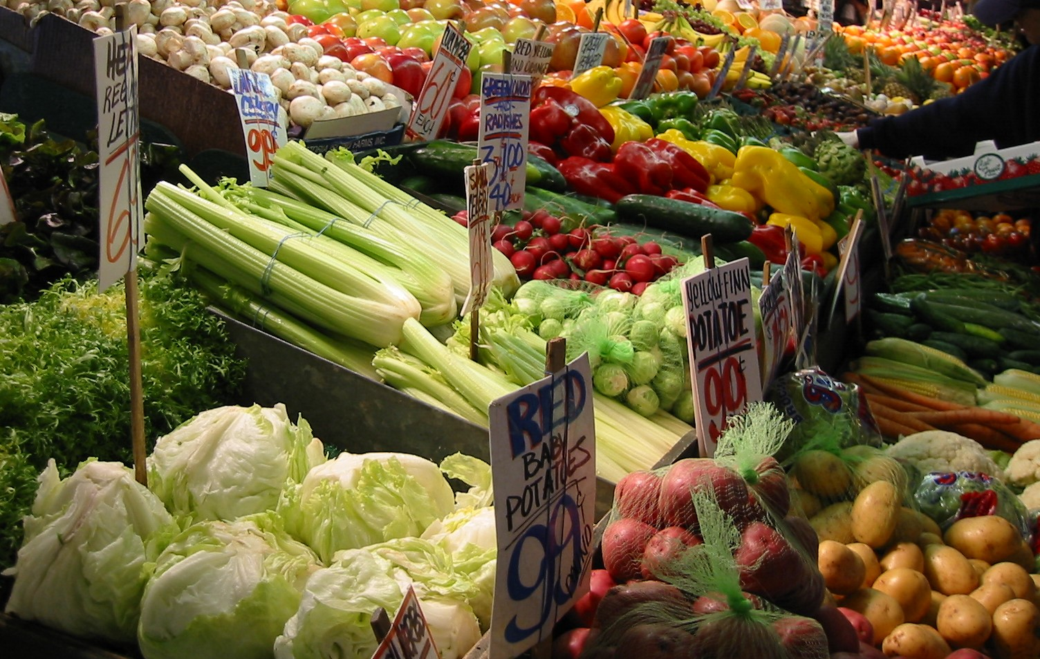 groente en fruitmarkt